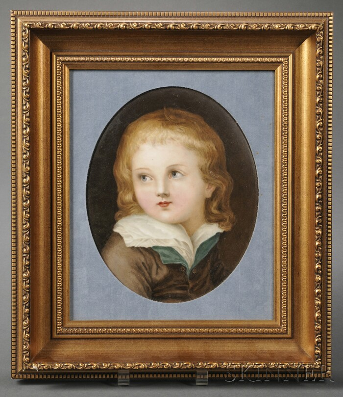 KPM Hand-painted Porcelain Plaque of the Dauphin