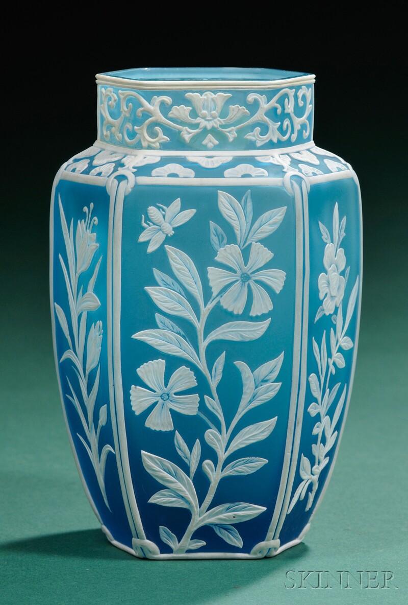 Art Nouveau Cameo Glass Vase