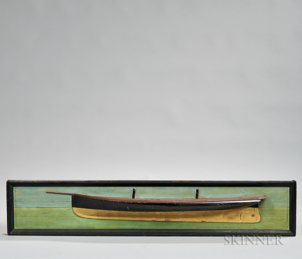 Painted and Gilded Half-hull Model