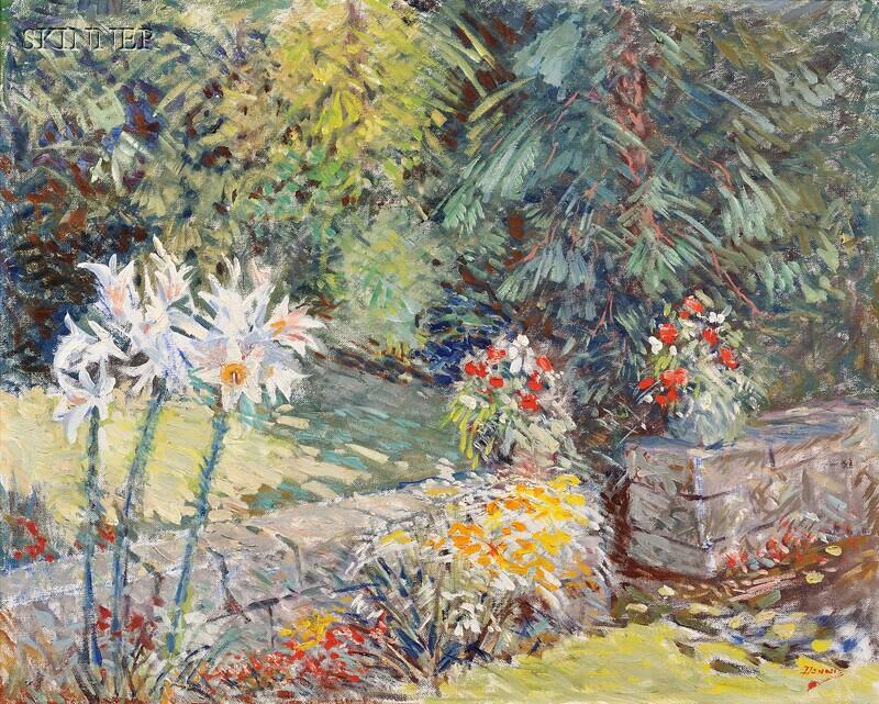 Roger Wilson Dennis (American, 1902-1996)      Garden (with Lilies)