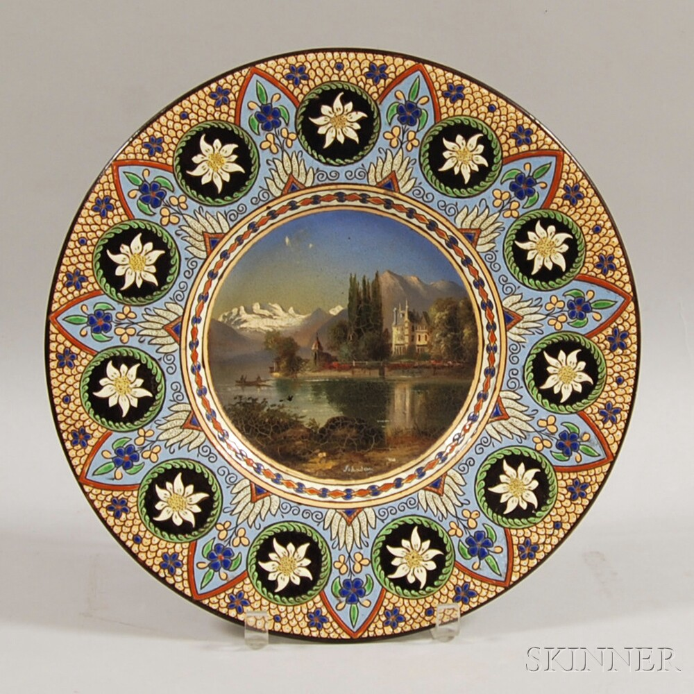 Swiss Thoune Hand-painted Earthenware Charger