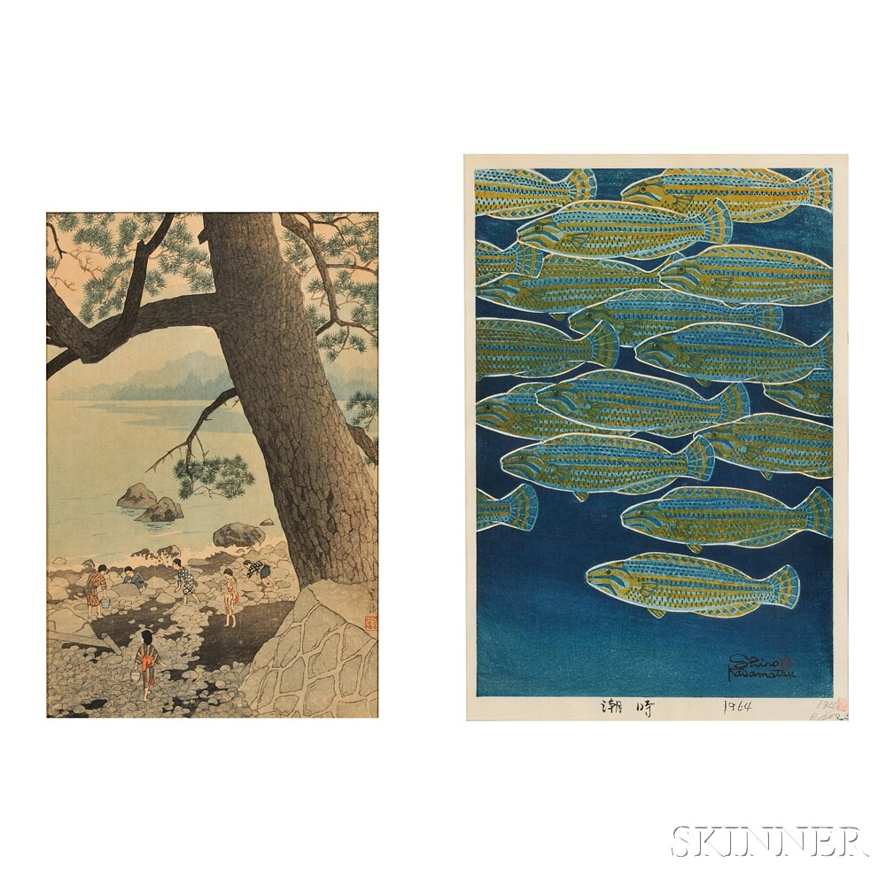 Kasamatsu Shiro (1898-1991), Two Color Woodblocks