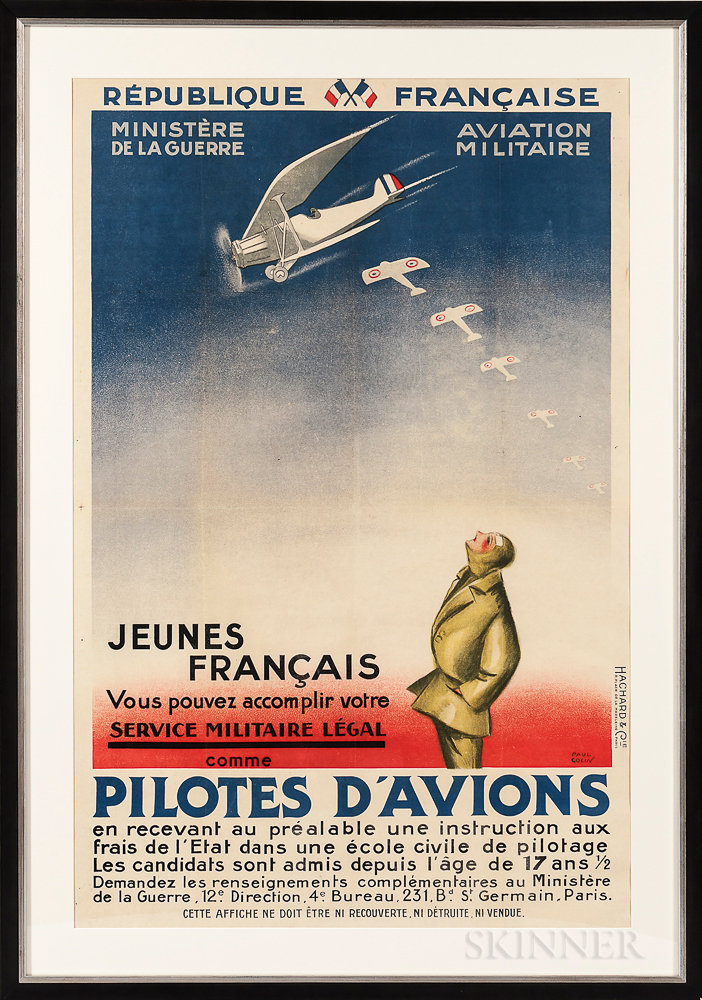 """""""Pilotes D'Avions"""" French Air Force Recruitment Poster"""