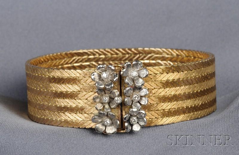 18kt Bicolor Gold and Diamond Bracelet