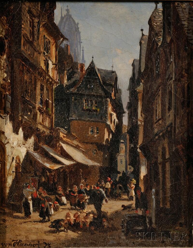 Andr. Frederich von Hanno (German, 1826-1882)      View of Frankfurt