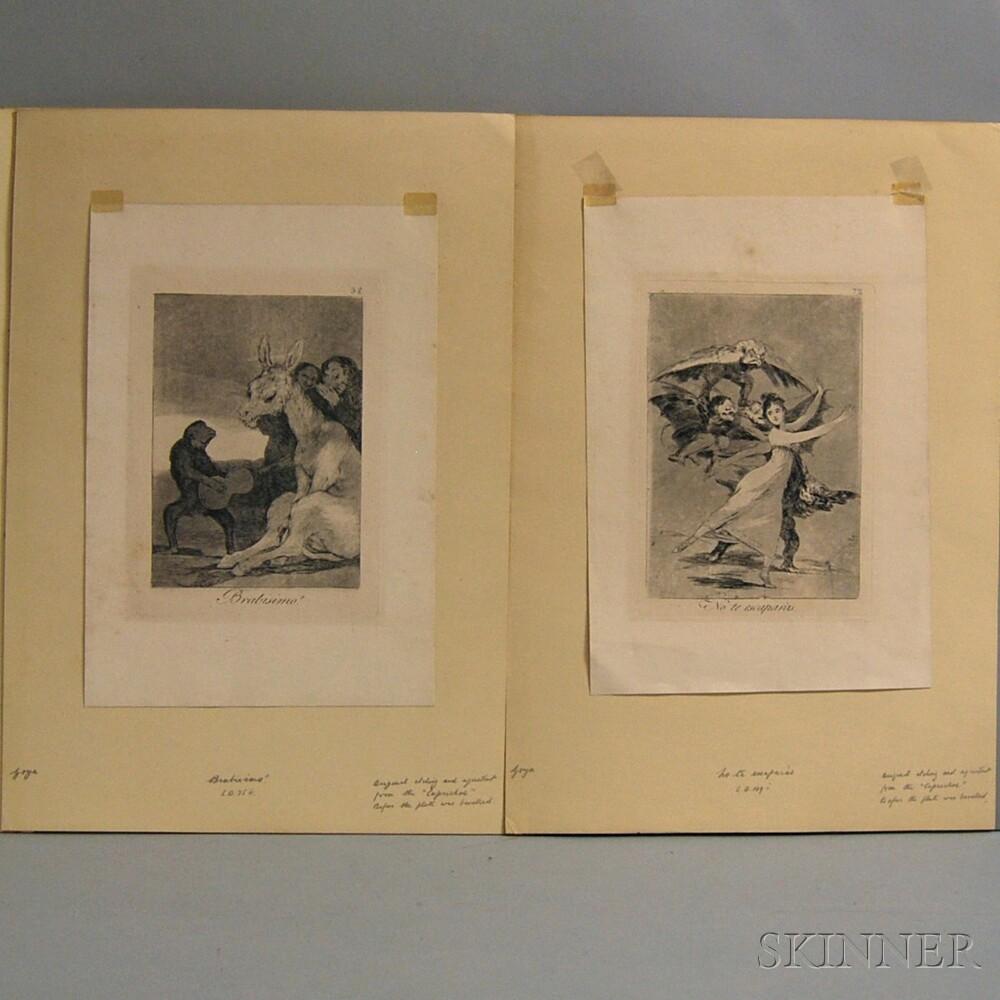 Francisco de Goya (Spanish, 1746-1828)      Two Plates from Los Caprichos