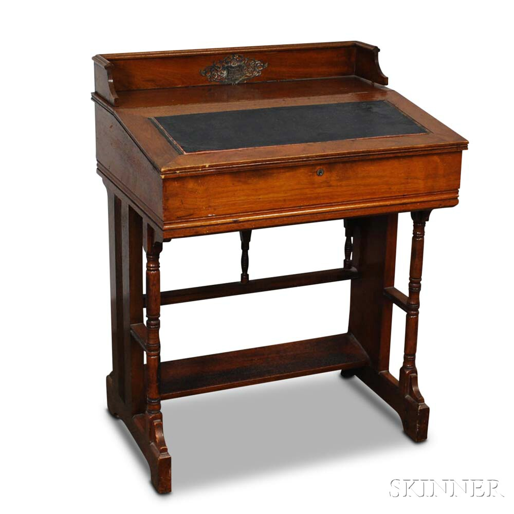 Renaissance Revival Walnut Writing Desk