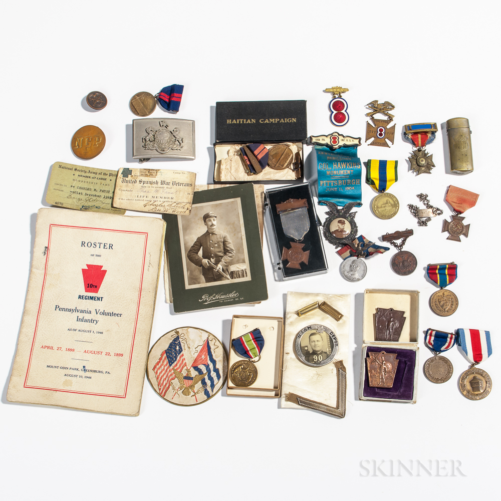 Group of Mostly Spanish American War-era Medals