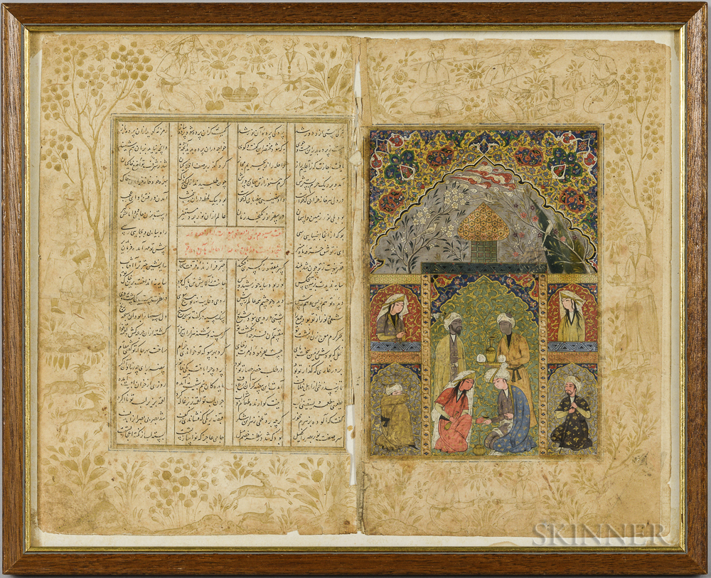 Two Pages from an Illuminated Manuscript