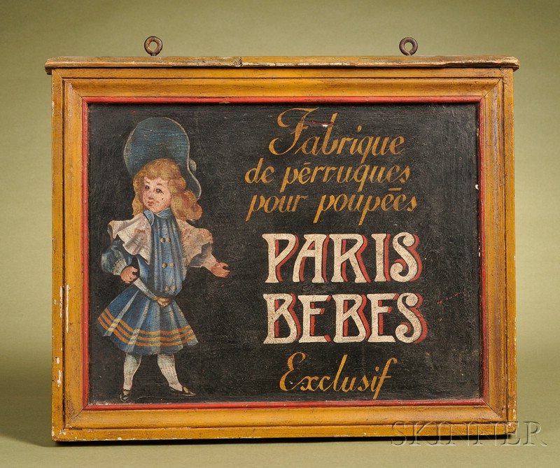 French Painted Doll Store Trade Sign