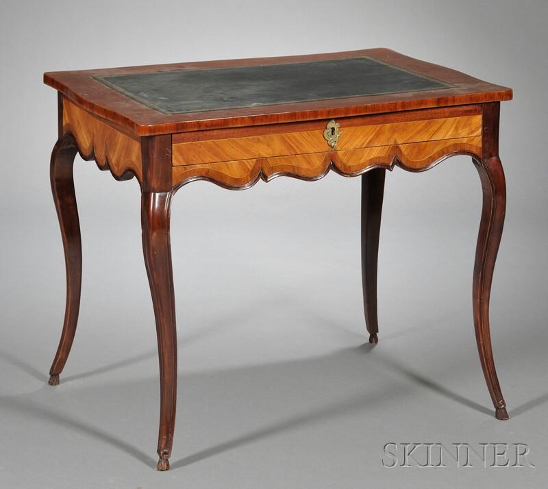 Louis XV Tulipwood Veneered Bureau Plat