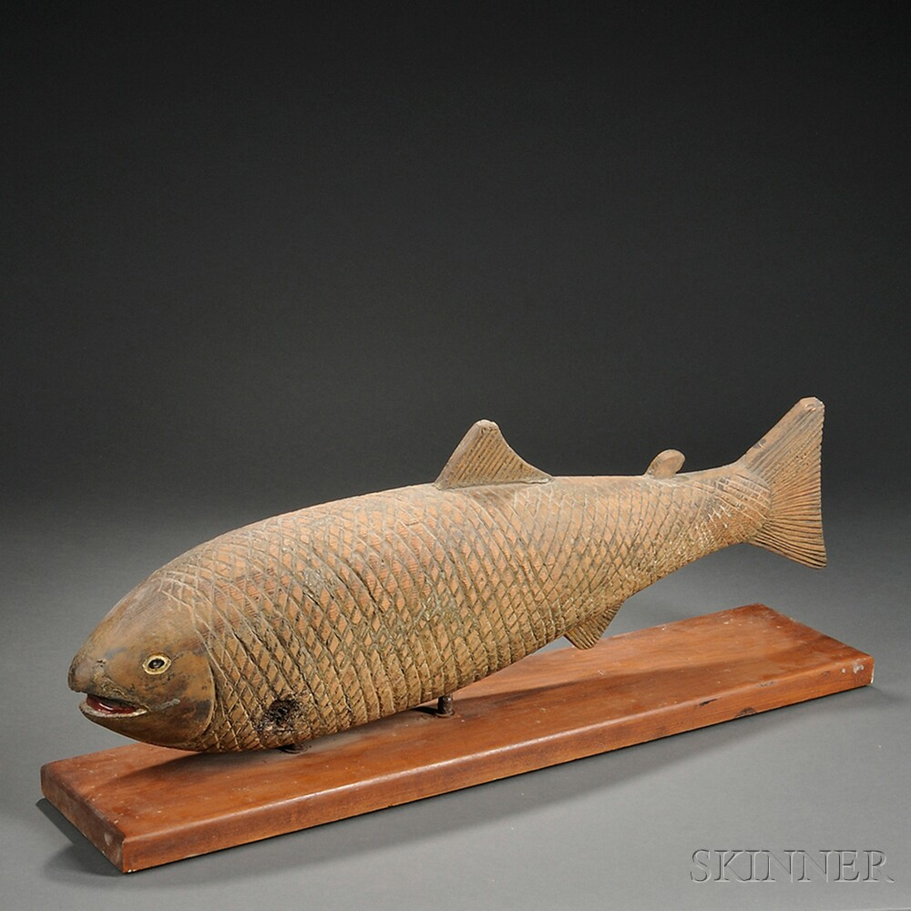 Carved Codfish Figure