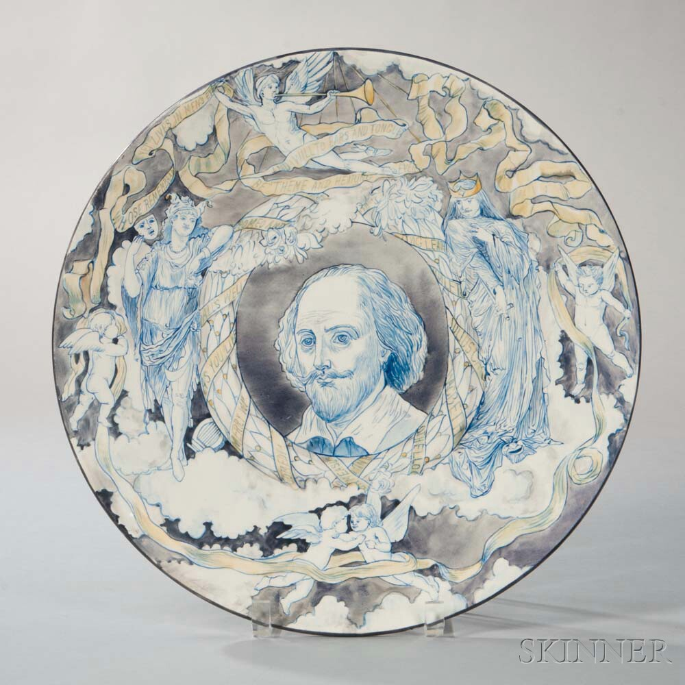Hand-painted Earthenware Shakespeare Dish