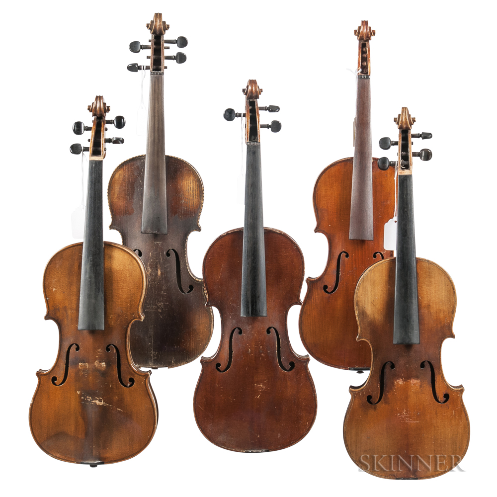 Five Violins.     Estimate $200-300