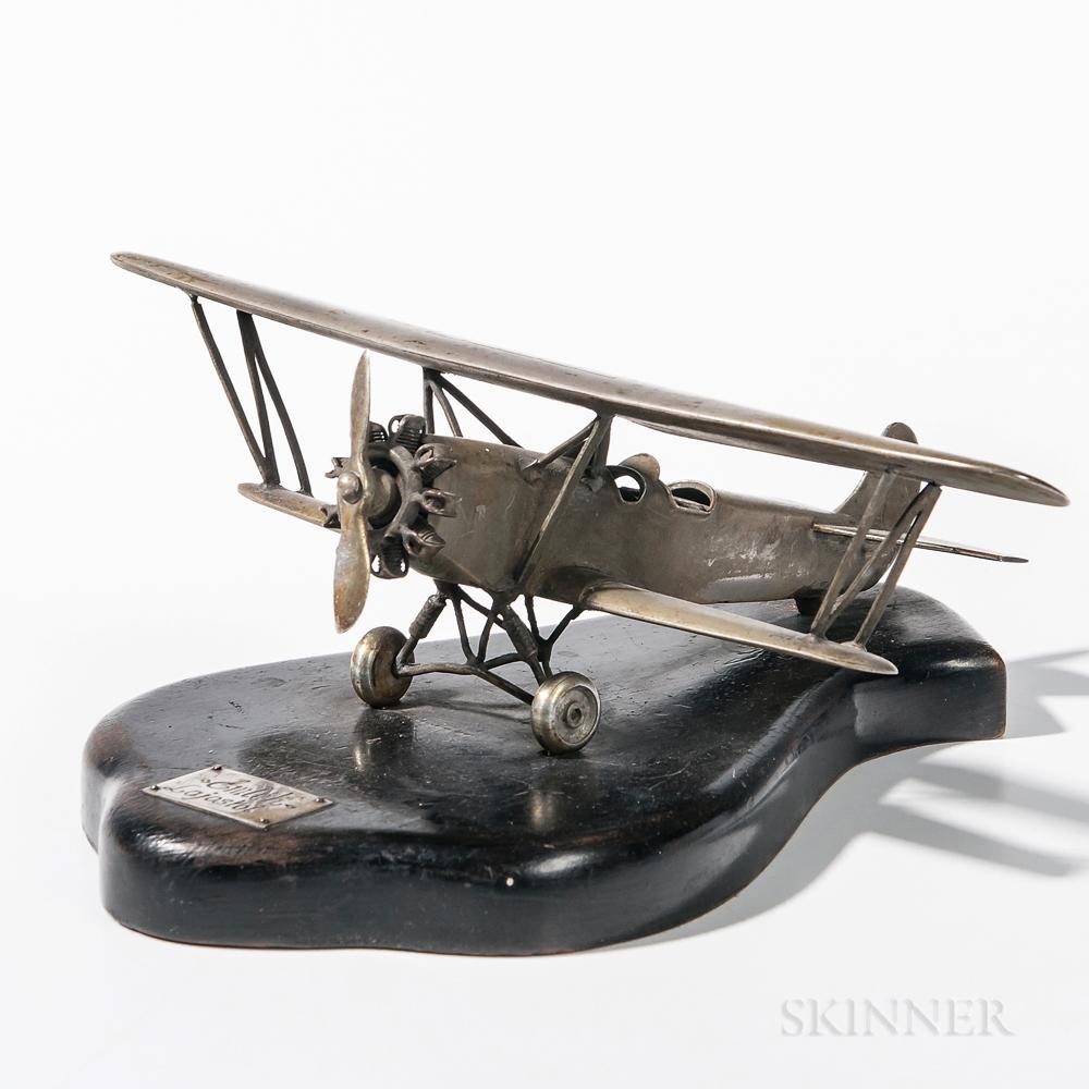 Metal Single-propeller Biplane Model