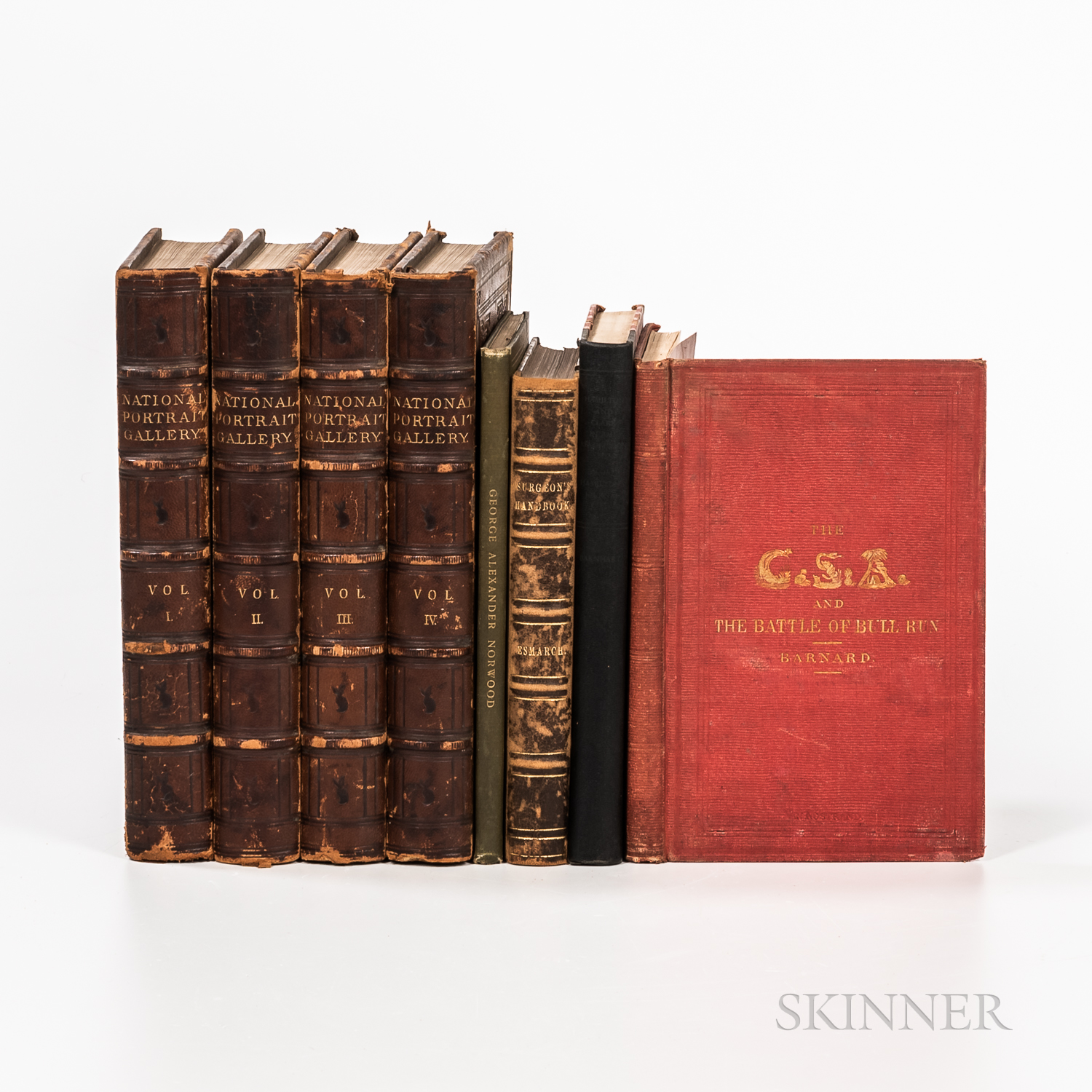 Eight Books Including Norwood, American Revolution, Distinguished Americans (Four Vols.), Surgeon General, Bull Run.