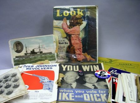Miscellaneous Political and Military Ephemera and a Group of Firearms Pamphlets and Catalogues.