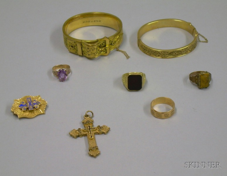 Group of Victorian and Victorian-style Gold and Gold-filled Jewelry