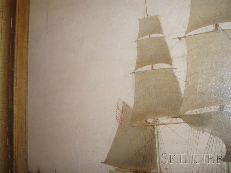 American School, 19th Century      Portrait of the American Packet Ship GARRICK   of the Dramatic Line.
