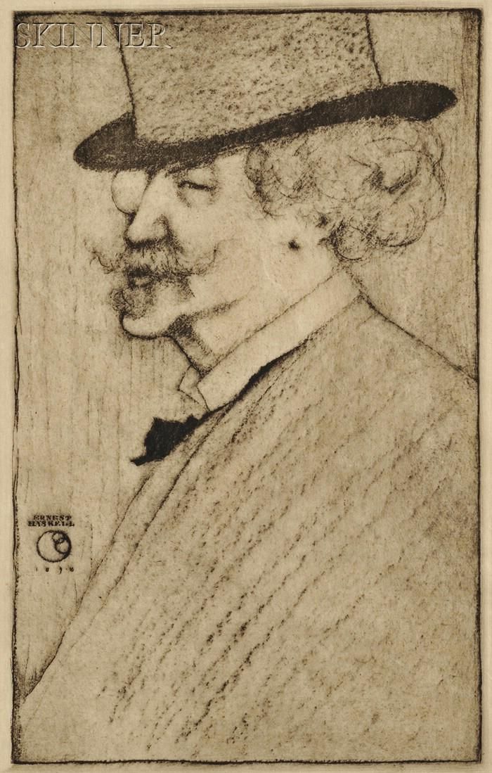 Ernest Haskell (American, 1876-1925)      James Abbott McNeill Whistler