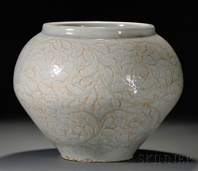Very Rare Large Ch'ing Pai Storage Jar