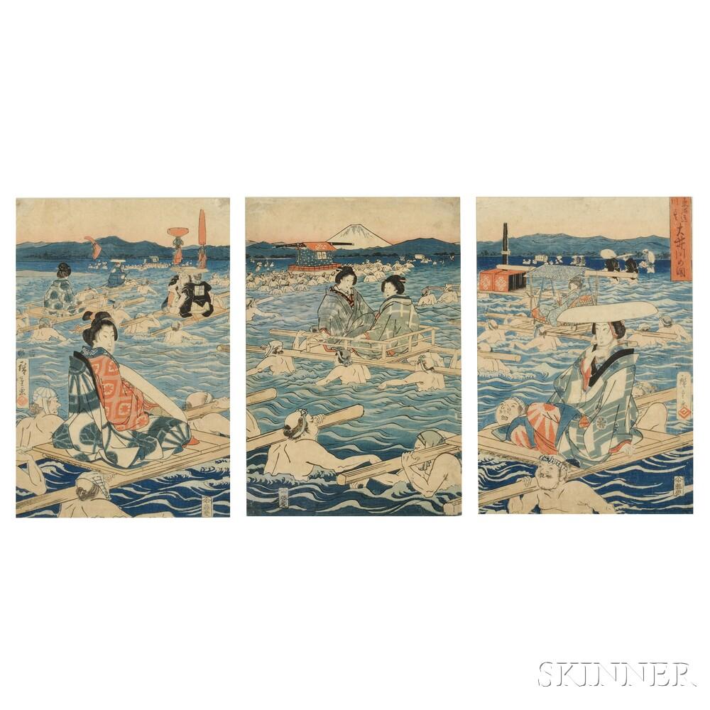 Utagawa Hiroshige (1797-1858), Oigawa River