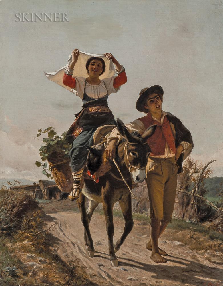 Luigi Bechi (Italian, 1830-1919)      Going to Market