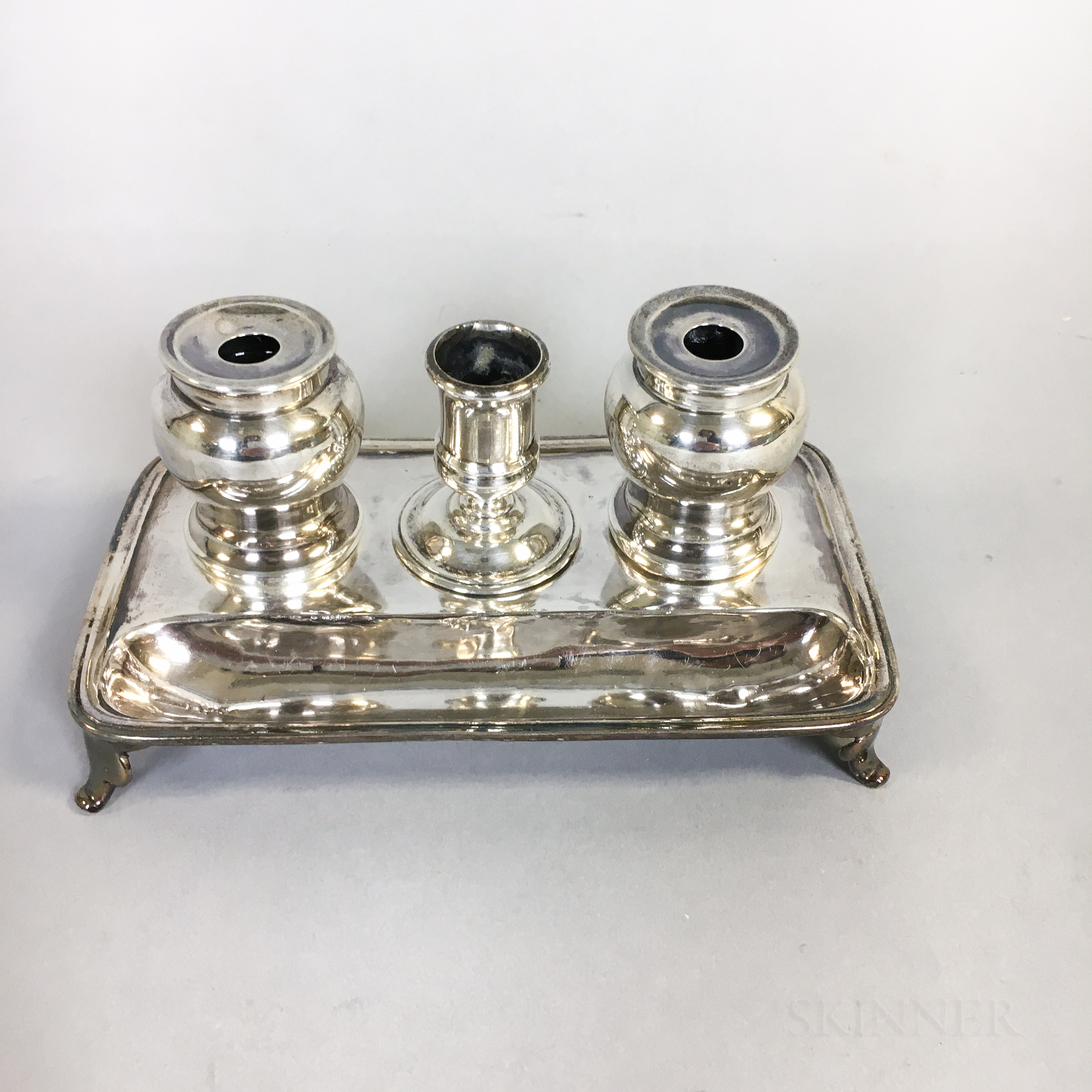 George II Sterling Silver Ink Stand