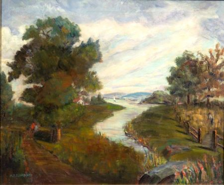 May Spear Clinedinst (American, 1887-1960)    Path by the River