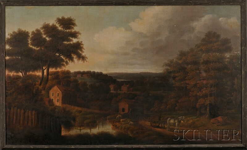 American School, 19th Century, possibly the work of Thomas Birch (New York and Penns ylvania, 1779-1851), Pennsylvania Landscape: Th...