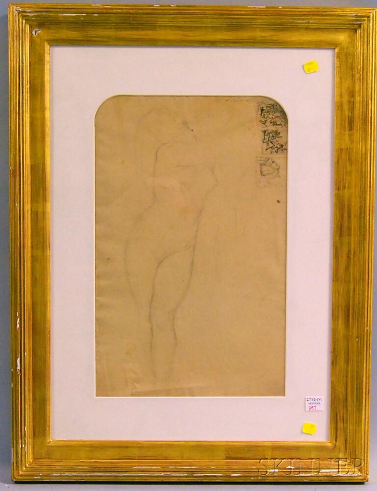 Philip Leslie Hale (American, 1865-1931)      A Double-sided Work: Study for Roger délivrant Angélique