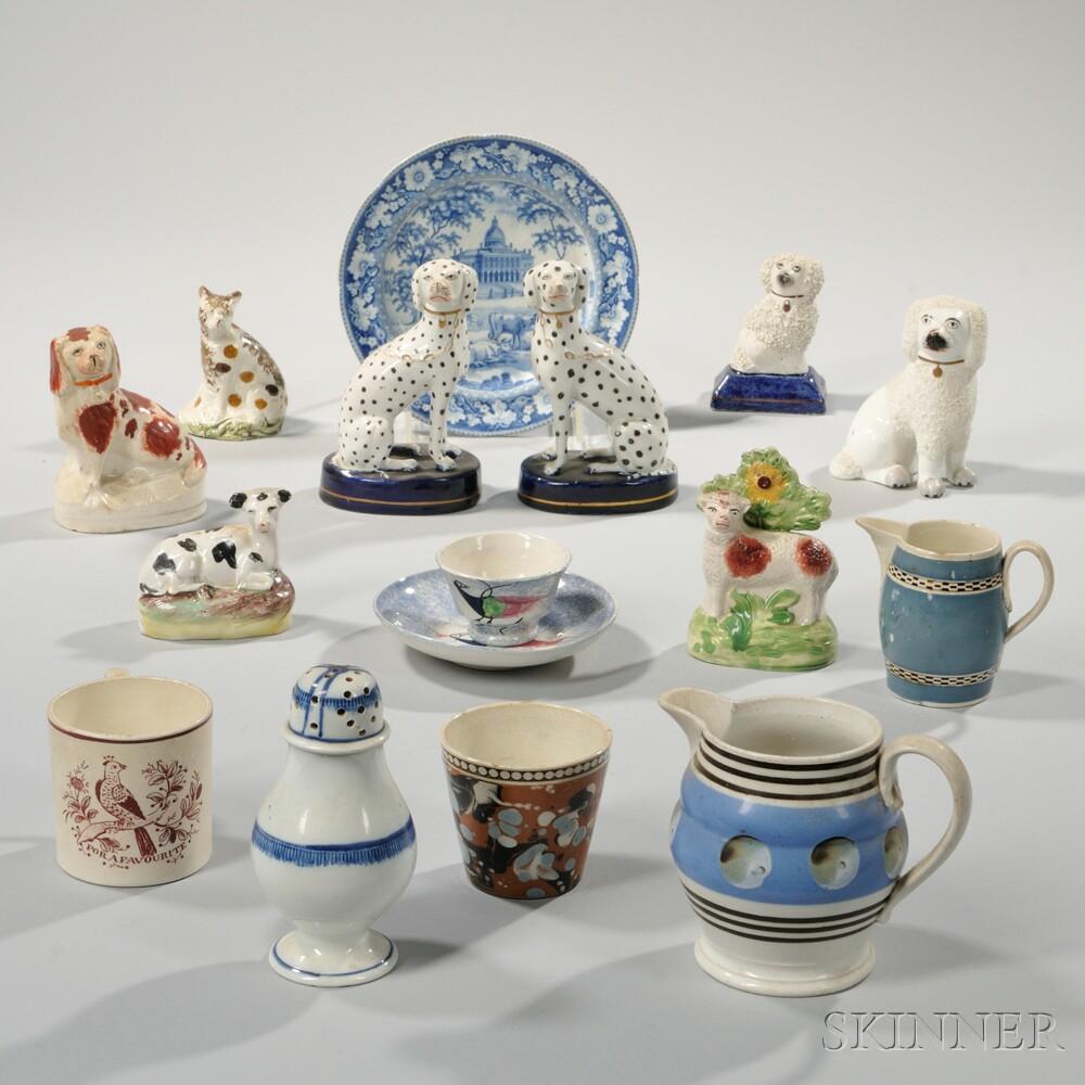 Fifteen English Pottery Items