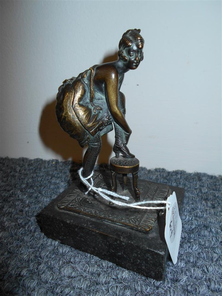 Bergman-style Bronze Figure of a Woman