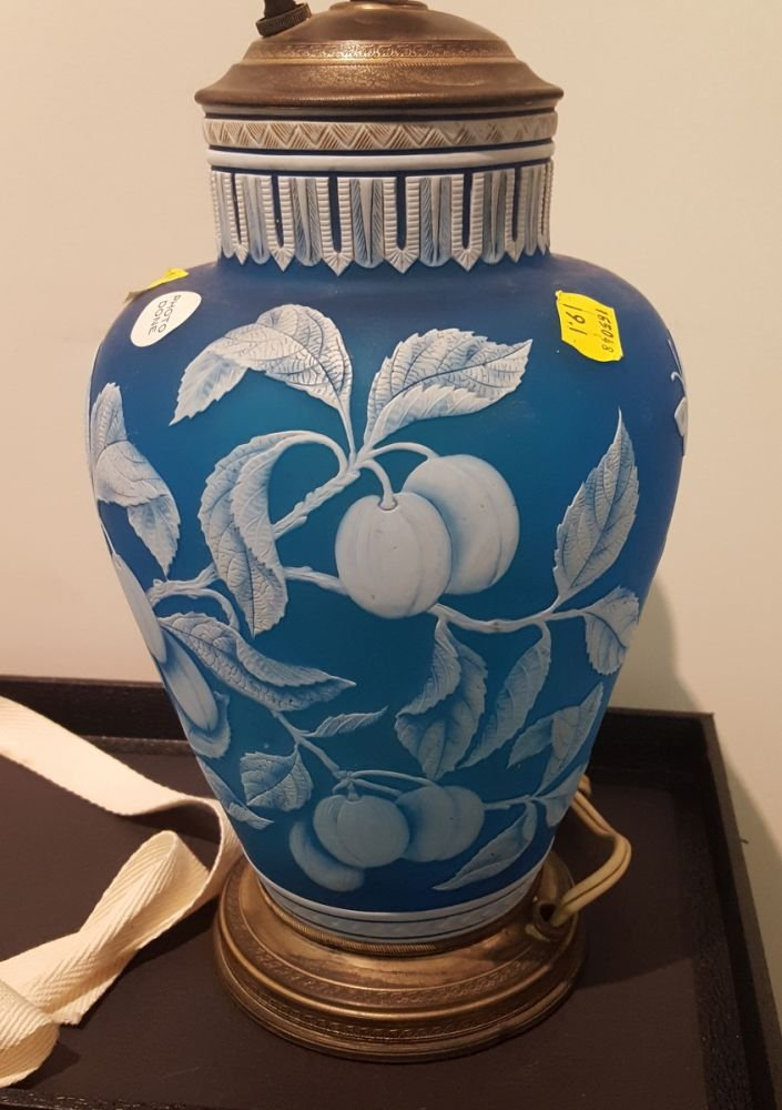 Blue Cameo Glass Vase