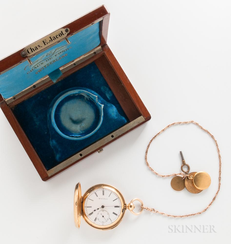 A. Hunguenin & Sons 18kt Gold Demi-hunter Repeating Watch