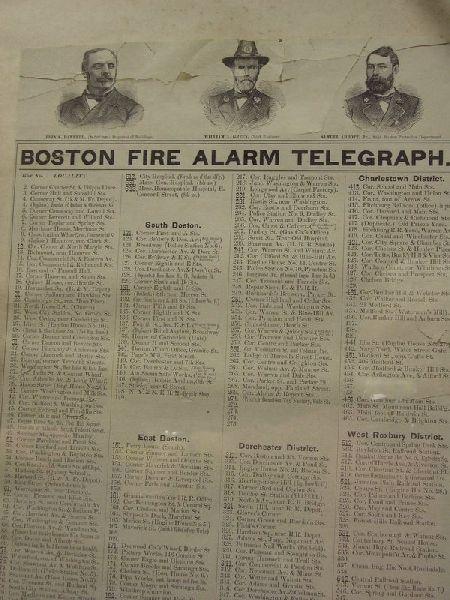 """""""Boston Fire Alarm Telegraph,"""""""