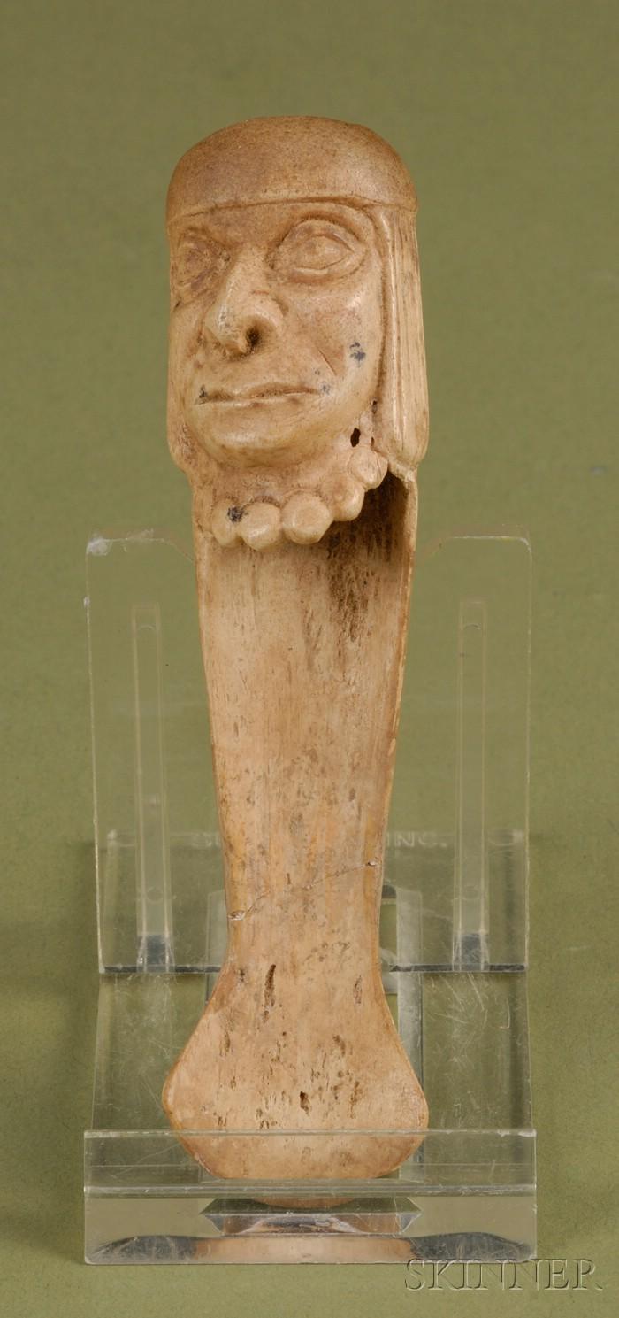Pre Columbian Carved Bone Spoon Sale Number 2506 Lot Number 186 Skinner Auctioneers