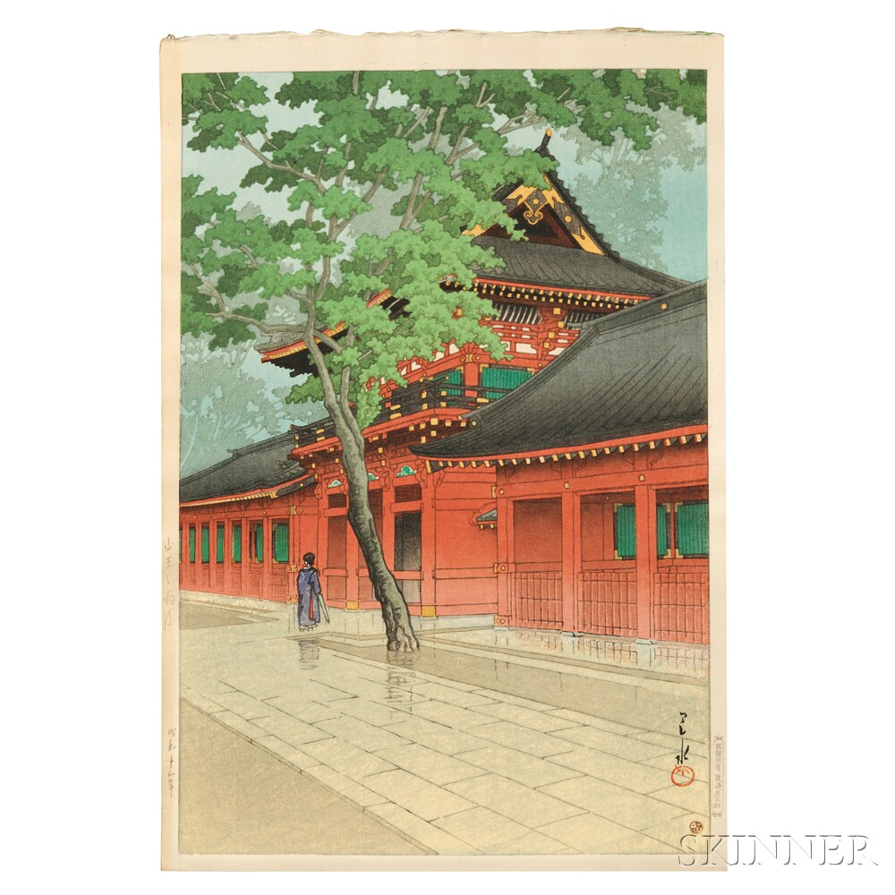 Kawase Hasui (1883-1957), Sanno Shrine after Rain