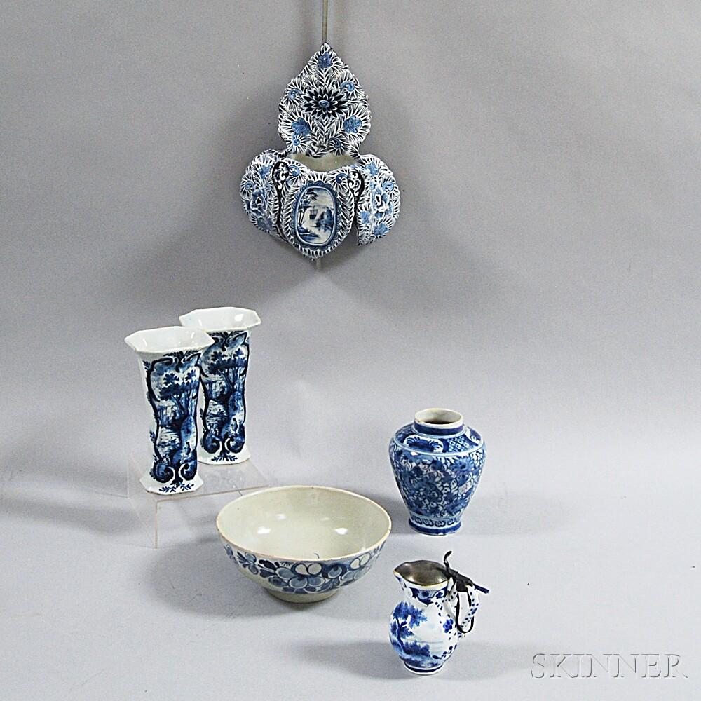 Six Delft Items