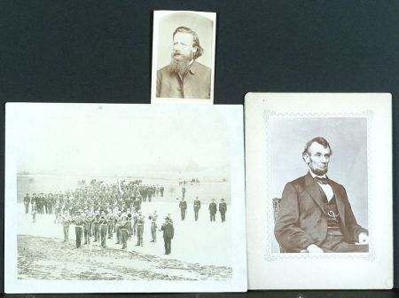 (Civil War), Three 19th Century Vintage Civil War Photographic Subjects