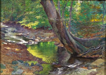 Harold Broadfield Warren (American, 1859-1934)    Woodland Stream
