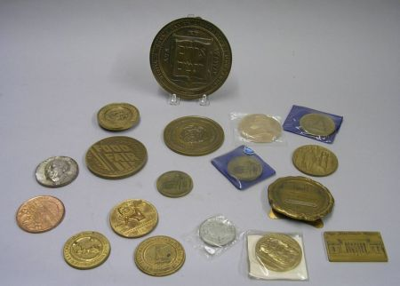Eighteen Mostly Bronze Anniversary and Commemorative Medallions