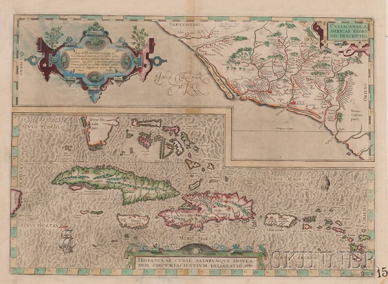 (Maps and Charts, Caribbean), Ortelius, Abraham (1527-1598)