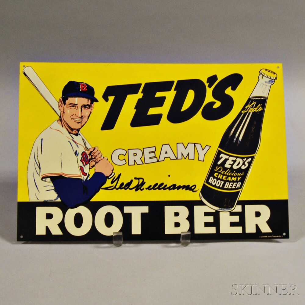 Reproduction Ted's Creamy Root Beer Lithographed Sign