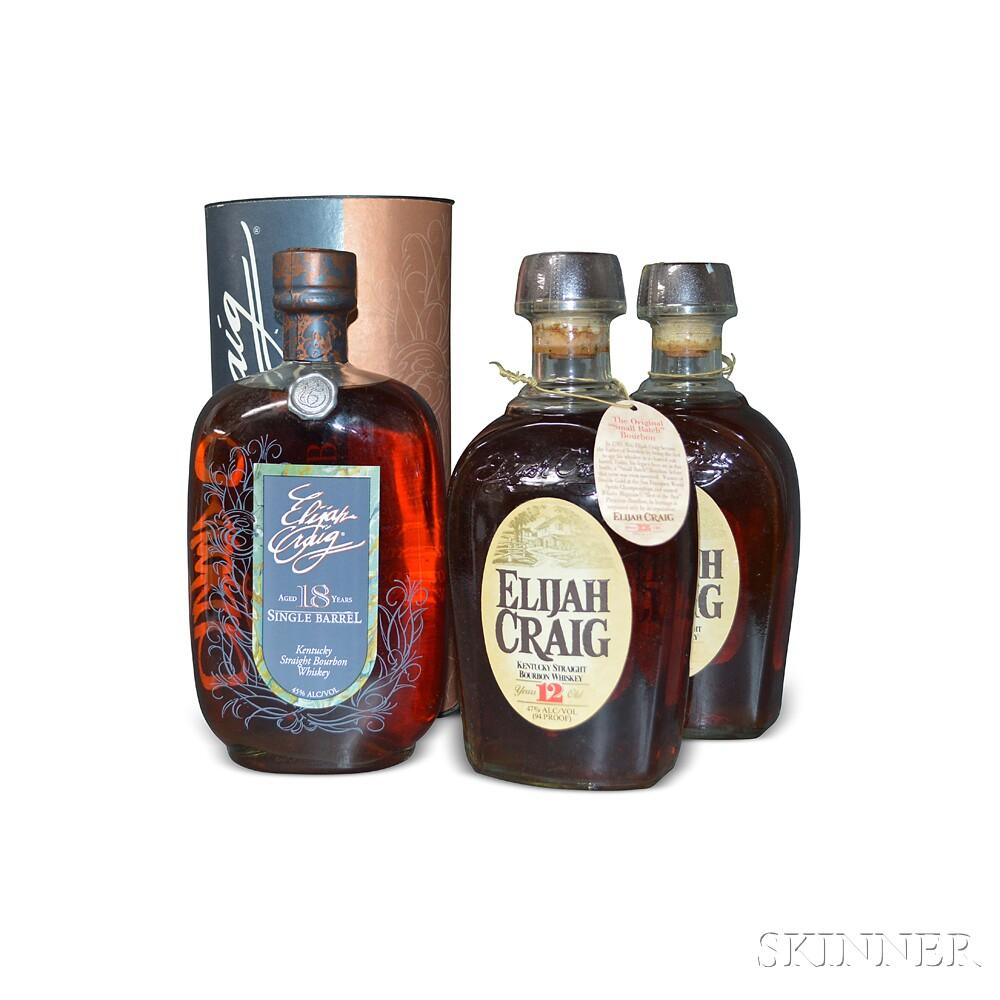 Mixed Elijah Craig, 3 750ml bottles