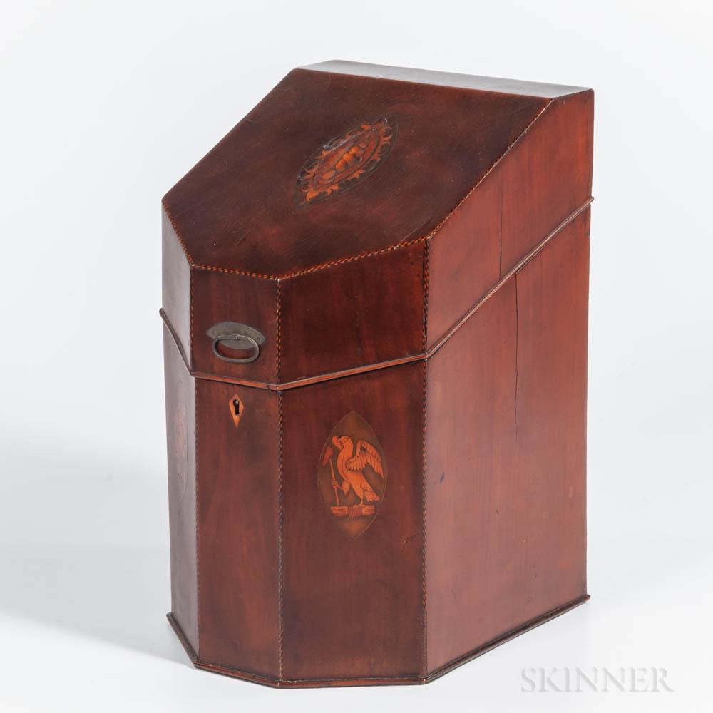 Inlaid Mahogany Knife Box