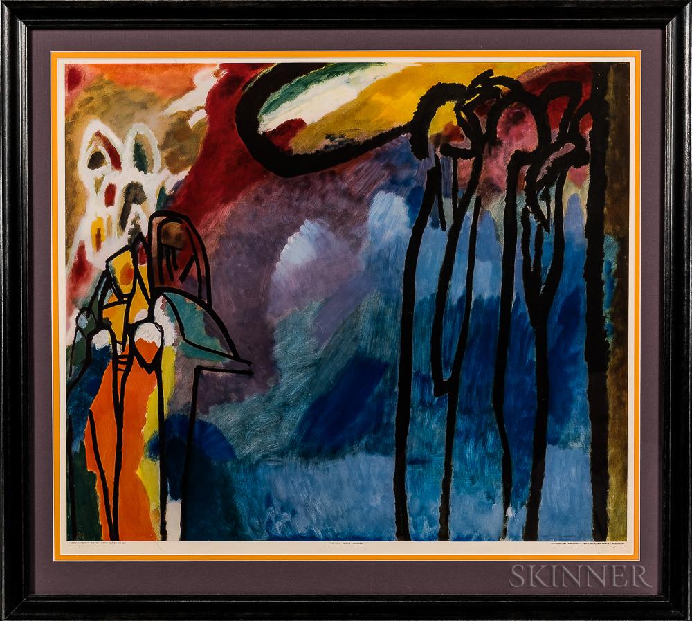 After Wassily Kandinsky (Russian, 1866-1944)      Improvisation XIX