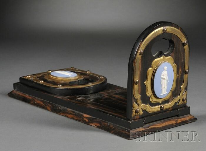 Wedgwood Light Blue Jasper Mounted Sliding Book Stand