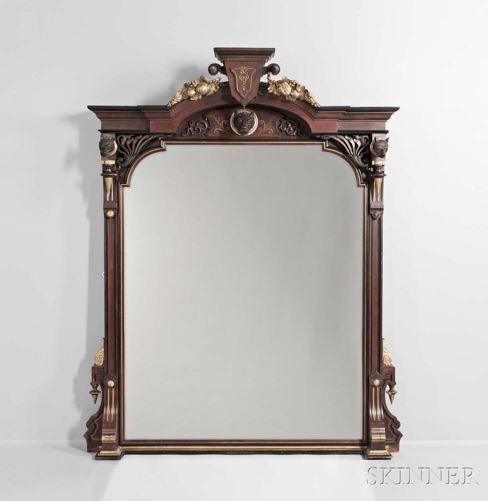 Renaissance Revival Walnut Mirror