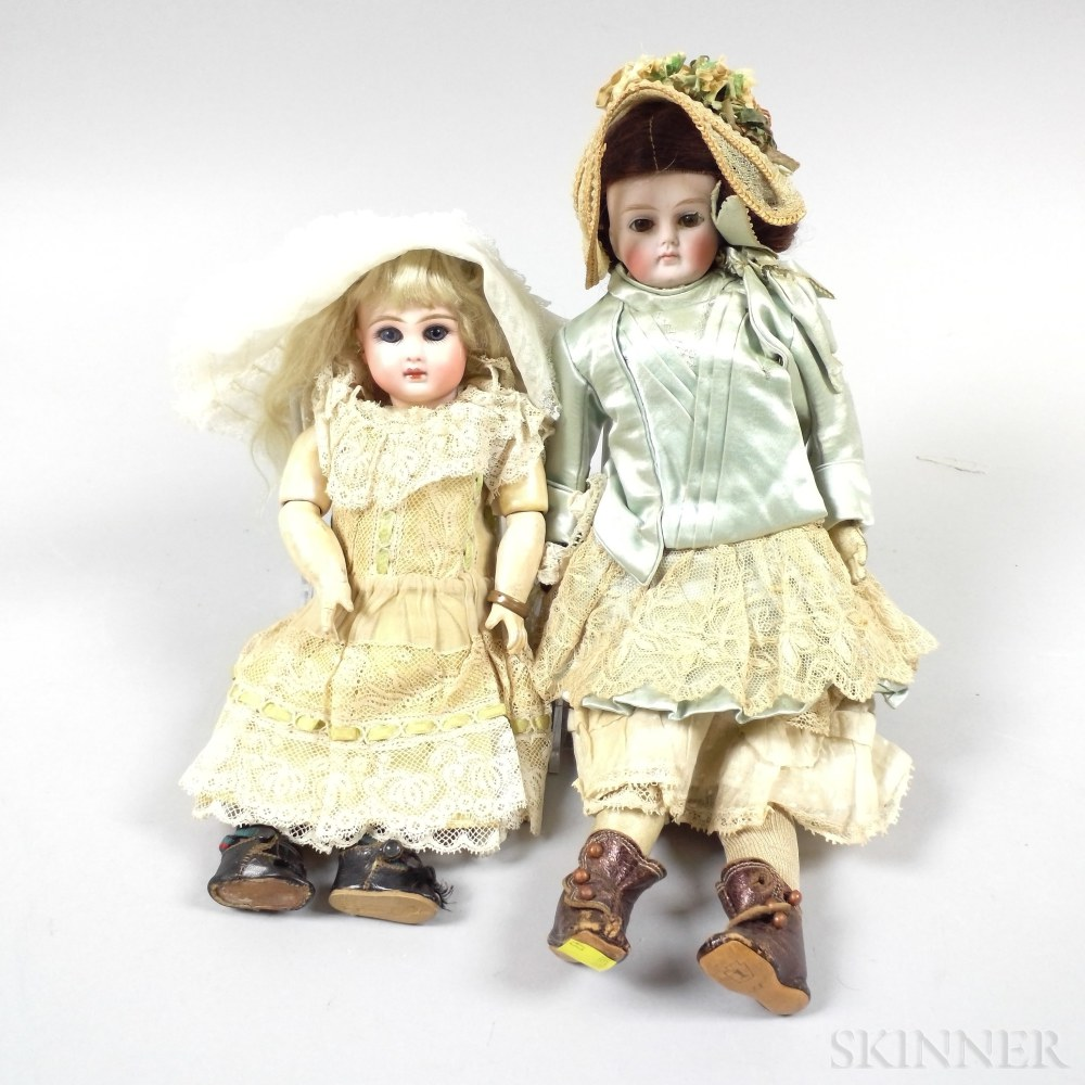 Two Small French Bisque Dolls